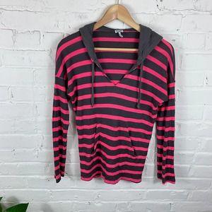 Splendid Long Sleeves Hooded Sweatshirt X-Small